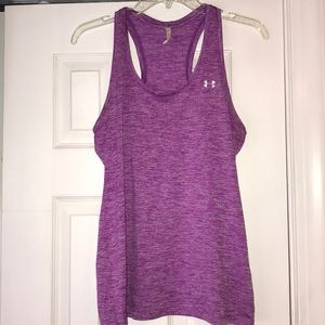 Under Armour loose fit purple tank top.